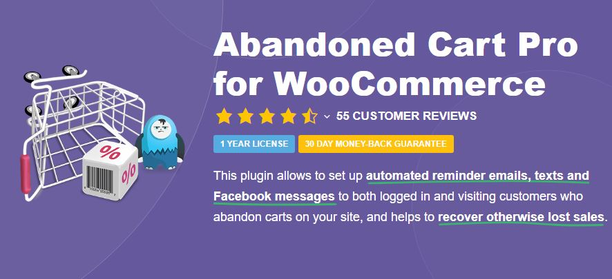 4‑5 - Top Six Cart Abandonment Plugin - 5 - Abandoned Cart Pro for WooCommerce Plugin