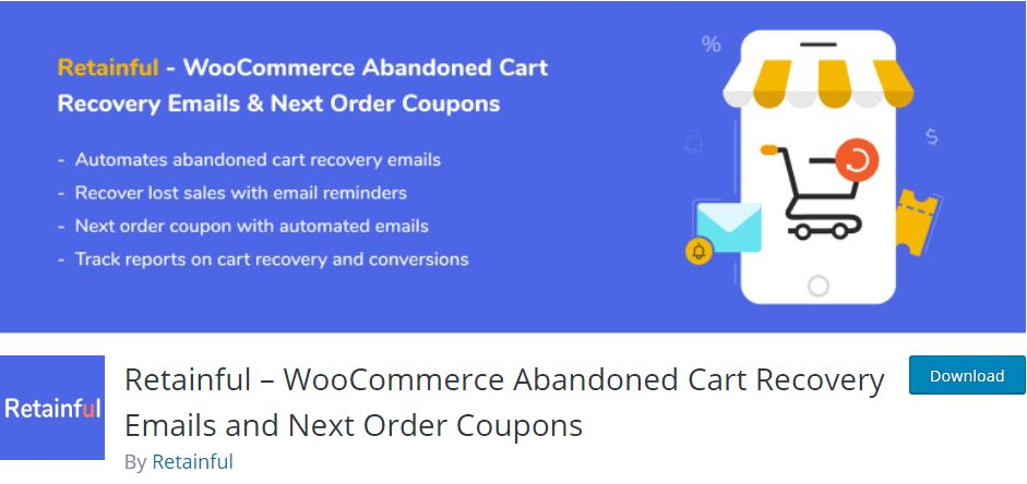 4‑6 - Top Six Cart Abandonment Plugin - 6 - Retainful – WooCommerce Abandoned Cart Recovery Emails Plugin