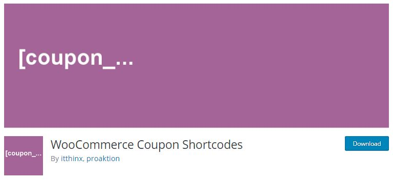 5‑4 - Top 6 WooCommerce Coupon Plugins - 4 - WooCommerce Coupons Shortcodes Plugin