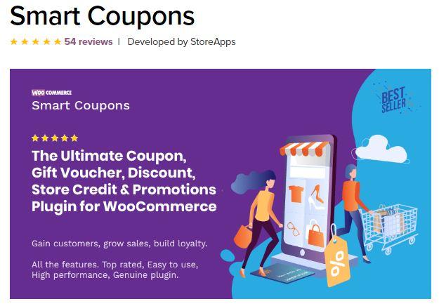 5‑5 - Top 6 WooCommerce Coupon Plugins - 5 - Smart Coupons Plugin