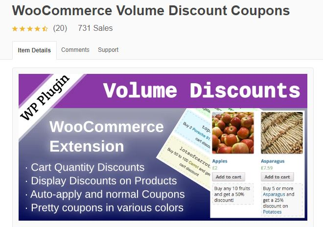 5‑6 - Top 6 WooCommerce Coupon Plugins - 6 - WooCommerce Volume Discount Coupon Plugin