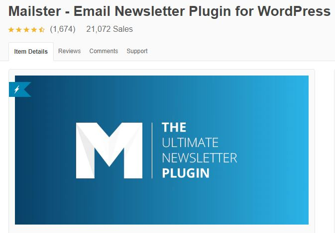 6‑5 - Top 5 Email newsletters WooCommerce Plugins - 5 - Mailster Plugin