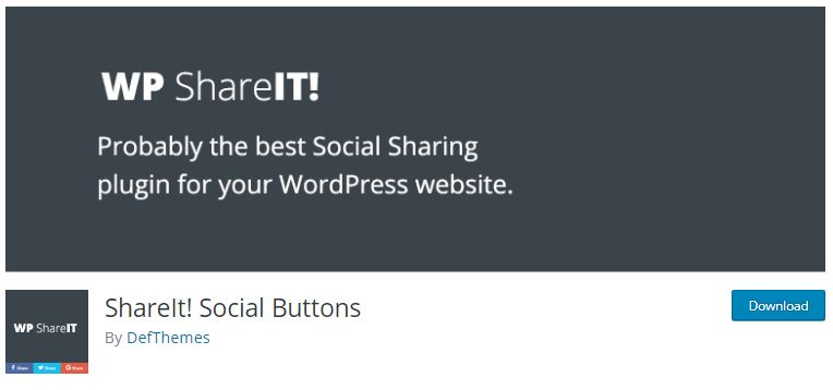 7‑2 - Top 6 Social Media Share Plugin for WooCommerce Store - 2 - ShareIt! Social Buttons Plugin