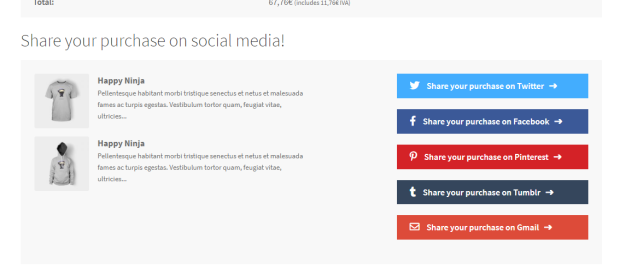 7‑3 - Top 6 Social Media Share Plugin for WooCommerce Store - 3 - Share your Purchase for WooCommerce Plugin