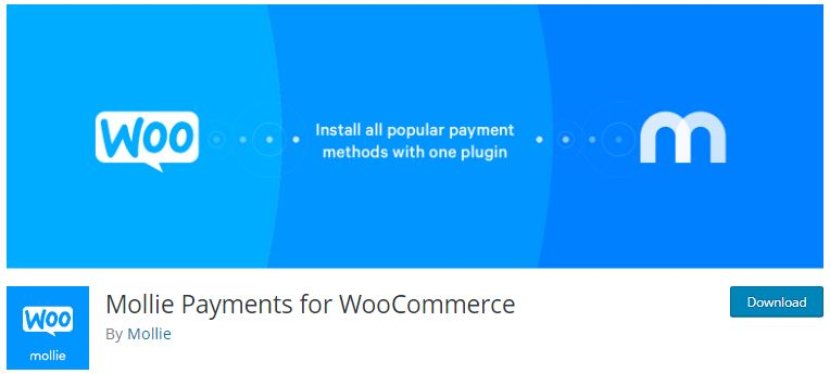 8‑8‑5 - Top WordPress Gateway Plugins - 5 - Mollie Payments For WooCommerce Plugin