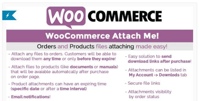 9‑2 - Top 5 WooCommerce Attachment Plugins - 2 - WooCommerce Attach Me Plugin