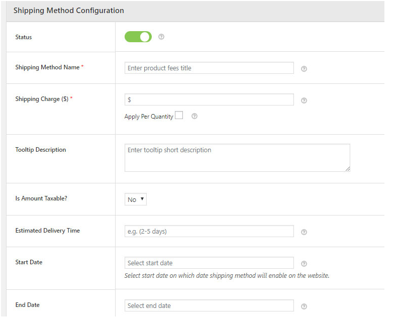 Adding Flat Rate Shipping using Shipping Method Configuration Screen - Advanced flat rate shipping plugin for WooCommerce