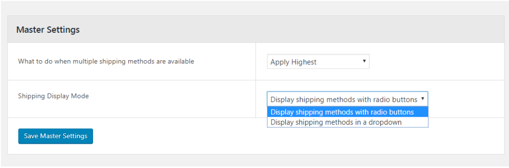 Deciding Shipping Display Mode - Advanced Flat Rate Shipping Methods for WooCommerce Plugin