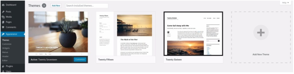 Setting up a Free WordPress Theme for your WordPress website's Layout