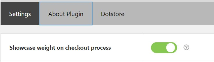 Figure 6: Option to Display weight at the checkout page
