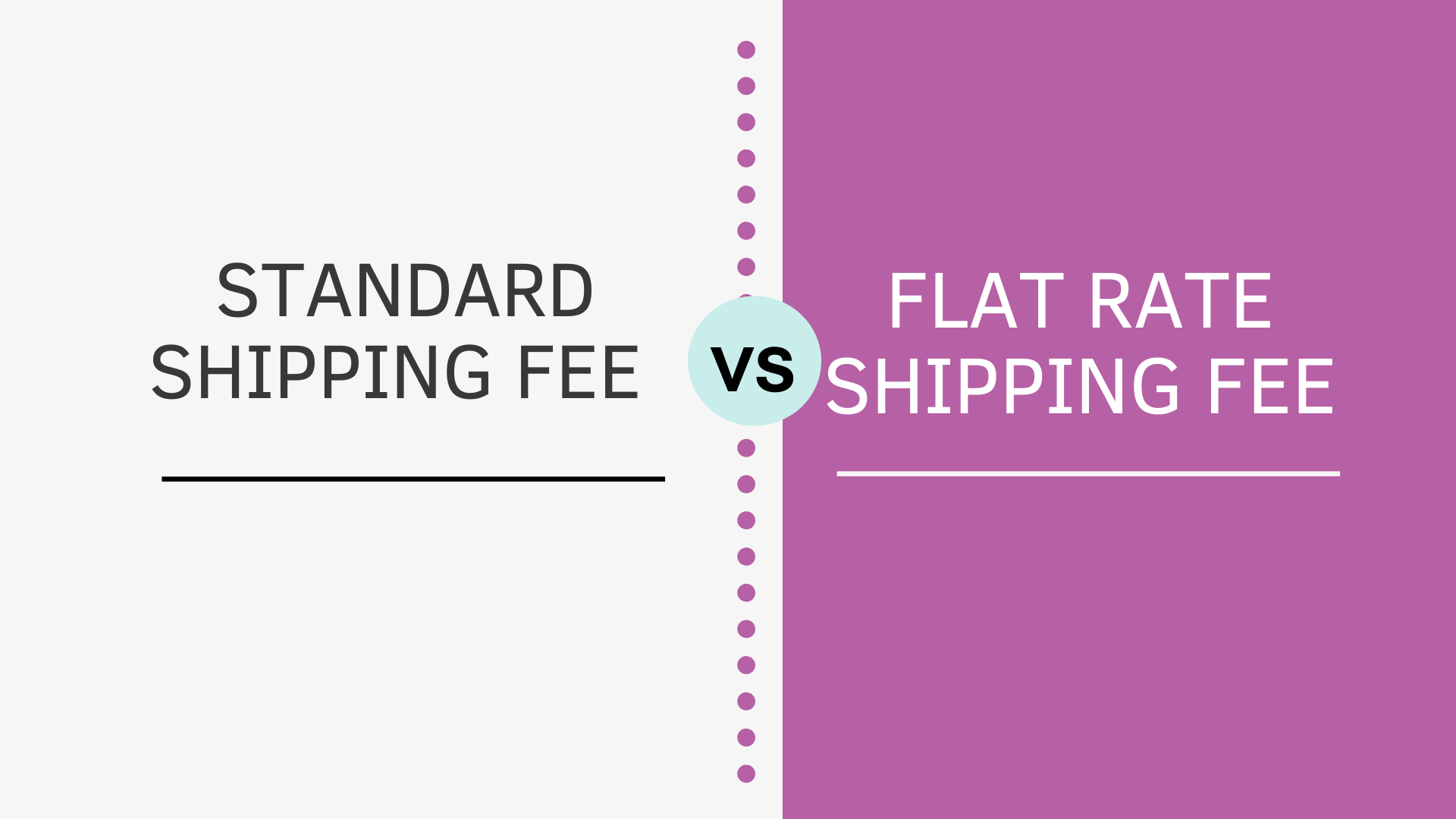 Standard Vs Flat Rate Shipping Fee in WooCommerce