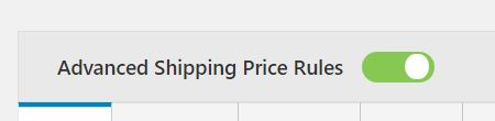Figure 9: Enable the option 'Advanced Shipping Pricing Rules'