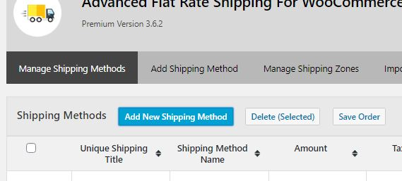 Figure 3: Option to add new Shipping method to your WooCommerce
