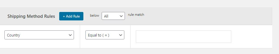 Figure 5: Section through which you can add multiple shipping method rules