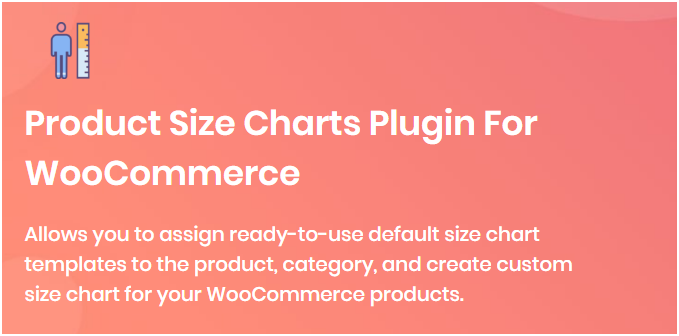 Figure 2: Product Size Charts Plugin for WooCommerce