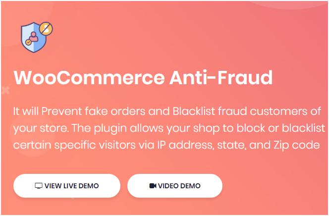 Figure 1: WooCommerce Anti-Fraud Plugin by DotStore