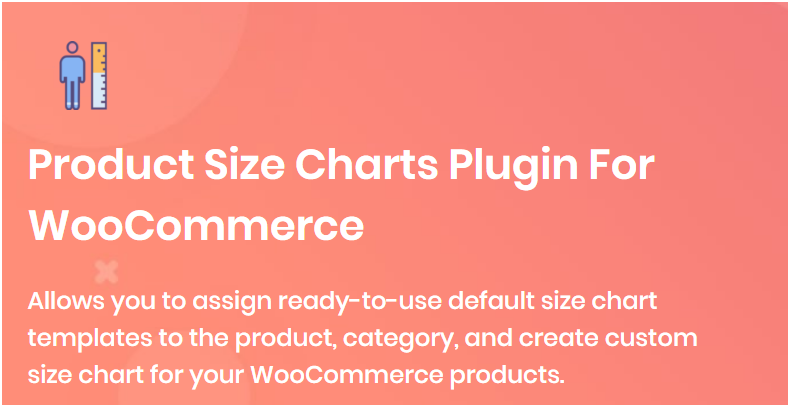 Figure 2: Product Size Chart for WooCommerce plugin