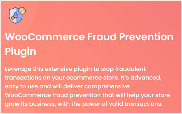 Figure 1 - WooCommerce Fraud Prevention Plugin by DotStore