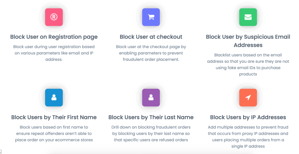 WooCommerce Fraud Prevention Plugin key features