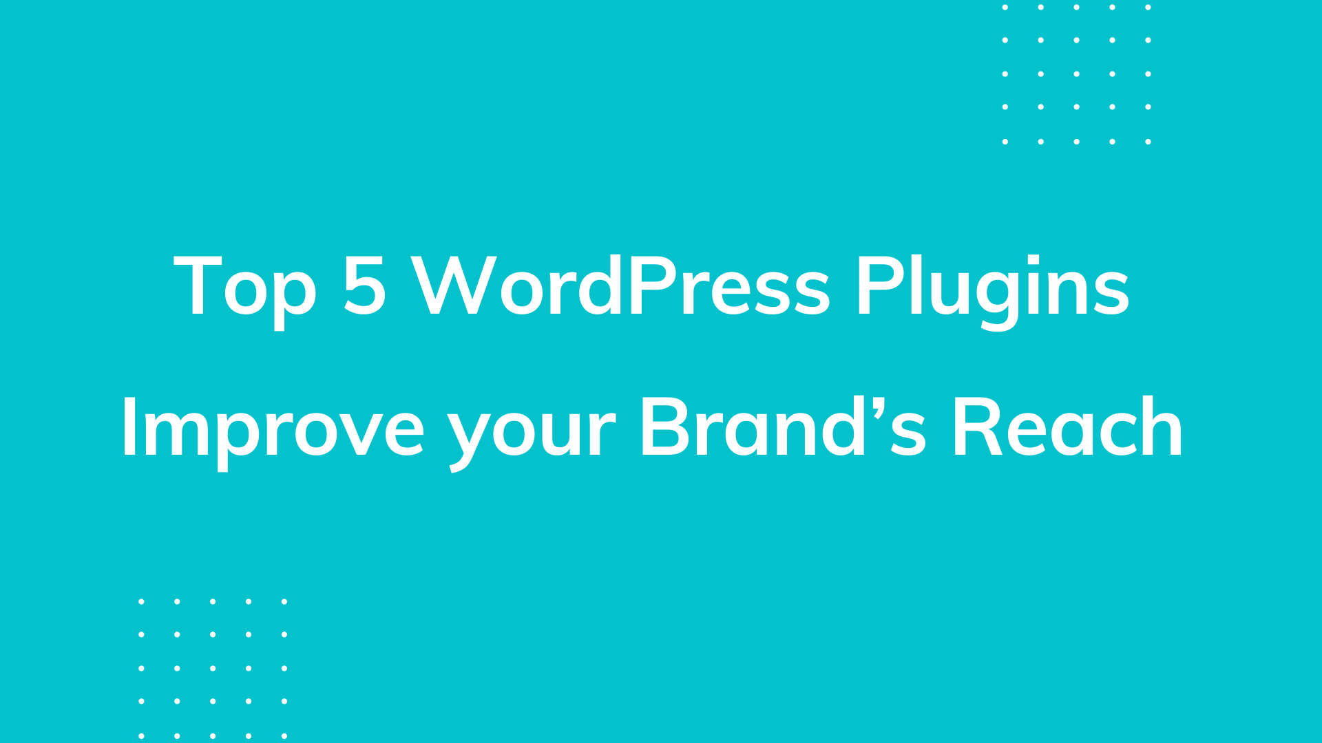 Useful Plugins for Business Promotion and for Increasing Brand's Reach