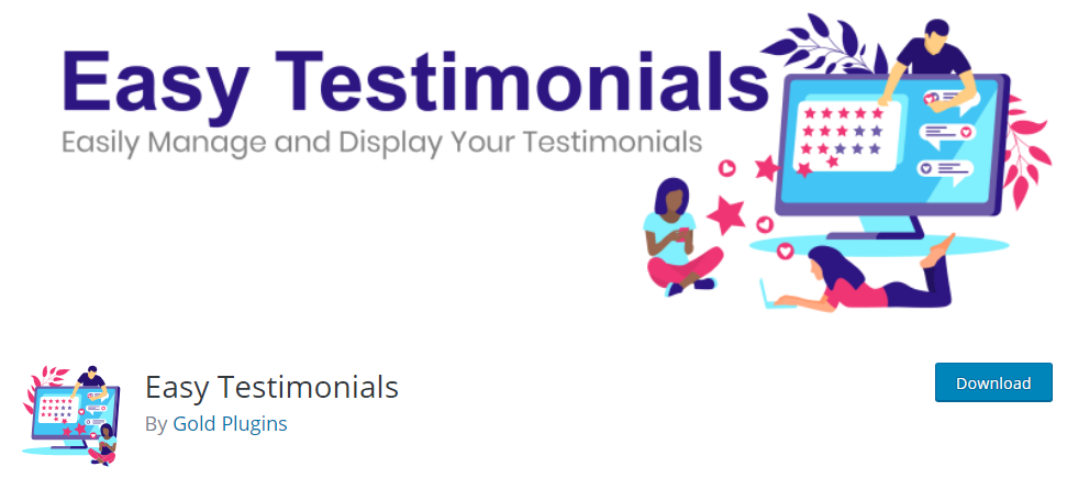 Plugin 3 - Easy Testimonials - Plugins for Business Promotion