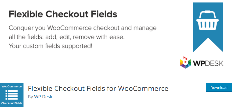 Plugin 3 - Flexible Checkout Fields for WooCommerce - Top 5 WooCommerce Checkout Field Editor Plugins for Sellers