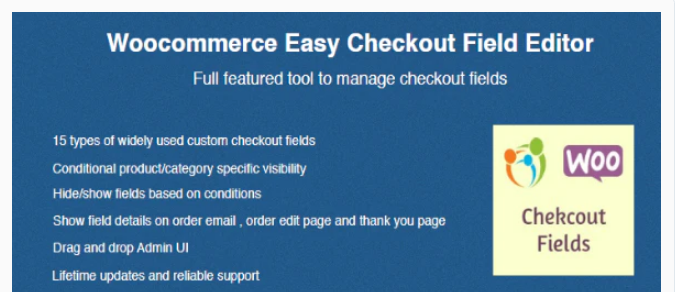 Plugin 4 - WooCommerce Easy Checkout Field Editor - Top 5 WooCommerce Checkout Field Editor Plugins for Sellers