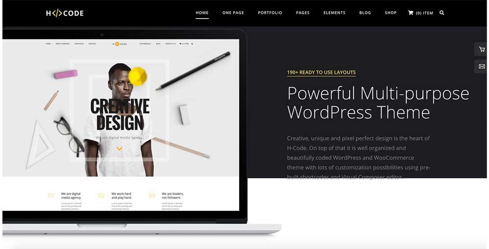 H-Code best WooCommerce WordPress themes