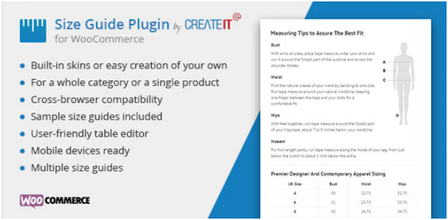 Plugin 3 - WooCommerce Product Size Guide - one of Top 15 WooCommerce size guide plugins