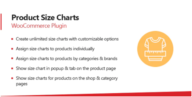 Plugin 7 - Product Size Chart - one of Top 15 WooCommerce size guide plugins