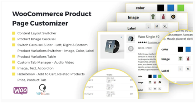 Plugin 10 - WooCommerce Product Page Customizer - one of Top 15 WooCommerce size guide plugins