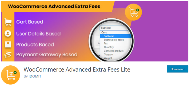 Plugin 4 - WooCommerce Advanced Extra Fees Lite - One of the Top 14 WooCommerce Extra Fees Plugins