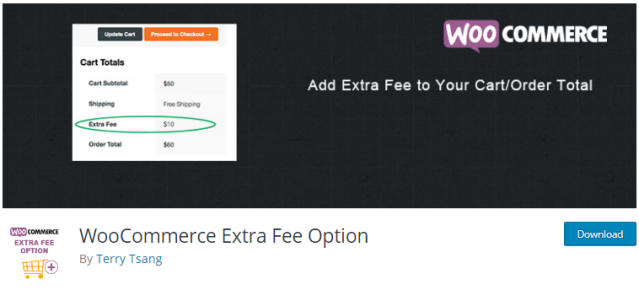Plugin 8 - WooCommerce Extra Fee Option By Terry Tsang - One of the Top 14 WooCommerce Extra Fees Plugins