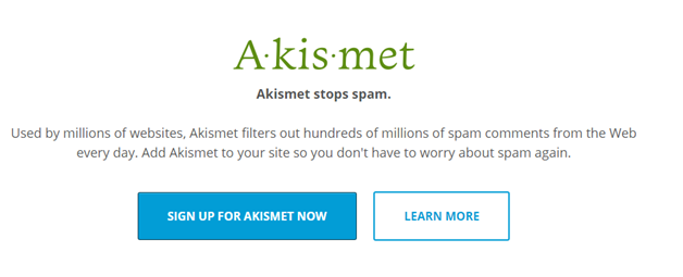 Plugin 1 - Akismet - One of the best Antispam Plugins for WordPress websites