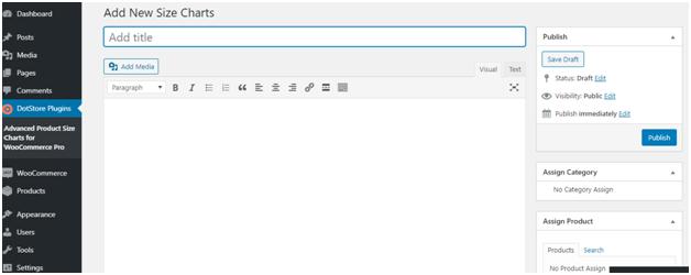 Figure 3 - Adding details like title, description, etc. to your Product Size Guide