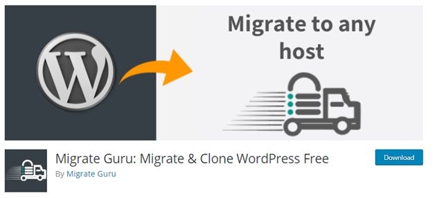 Plugin 3 - Migrate Guru - One of the most Powerful WordPress Migration Plugins