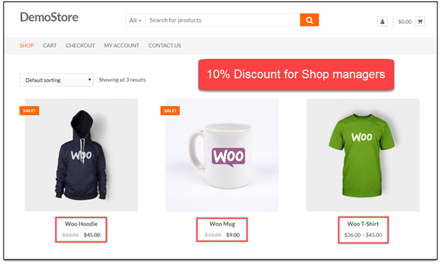 ELEX WooCommerce Role-Based Pricing Plugin [Plugin 1 of Top 20 Free WooCommerce Discounts Plugins]