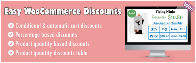Easy WooCommerce Discounts – WooCommerce Dynamic Pricing, Discounts, Shipping [Plugin 6 of Top 20 Free WooCommerce Discounts Plugins]