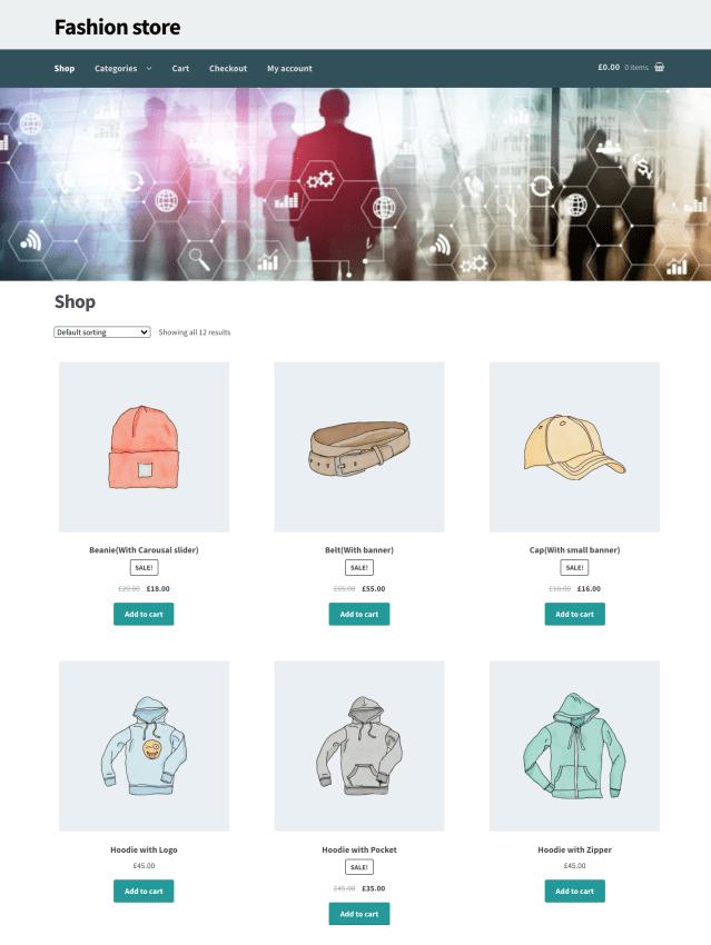 WooCommerce Banner management plugin