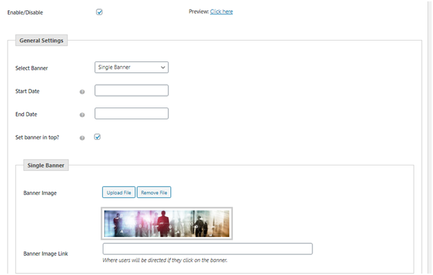 Figure 2 - Creating Banner for the shop base page using Banner Management Plugin