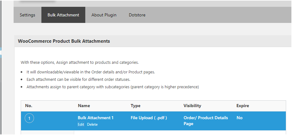 Creating a Bulk Attachment using the Product Attachments for WooCommerce Plugin